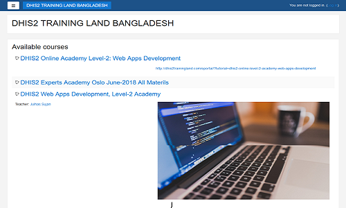 DHIS2 TRAINING LAND BANGLADESH